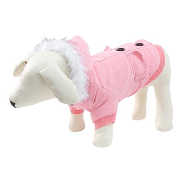 μπουφάν για σκύλους ροζ