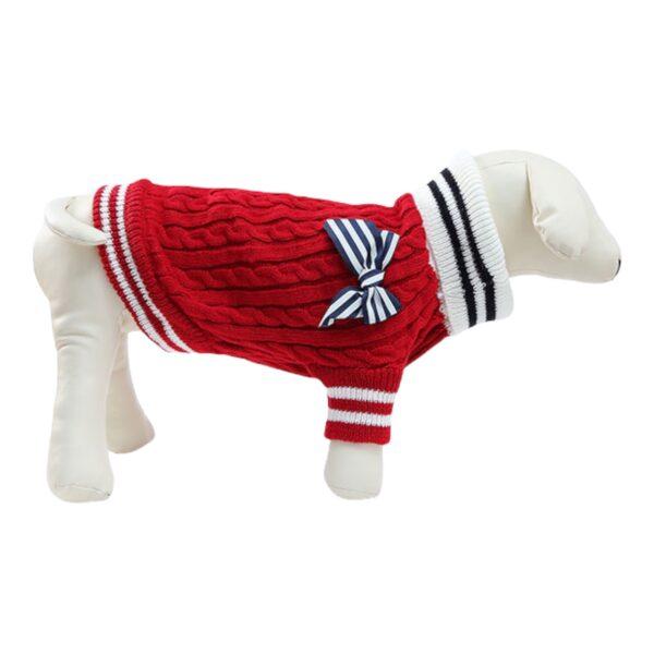 κόκκινο πουλόβερ για σκύλους