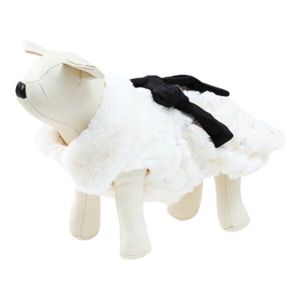 άσπρο παλτό για σκύλους